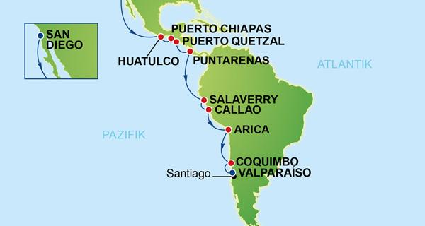 NCL Sun und CRUUSOO Kreuzfahrten_Pacific Südamerika_SDIEGO