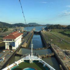Panama-Kanal letzte Schleuse Miraflores